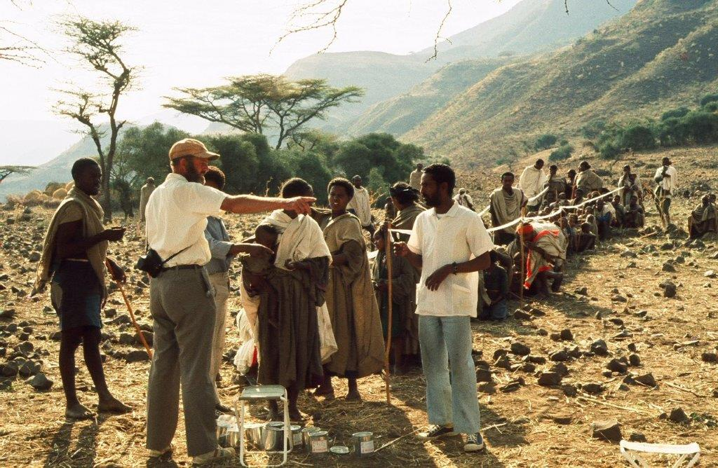 Red Cross team at work in the central highlands of Ethiopia in 1974of